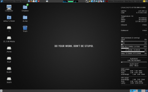 My Desktop With Conky running